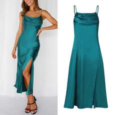 dressforwomen, Fashion, Halter, solidcolordres