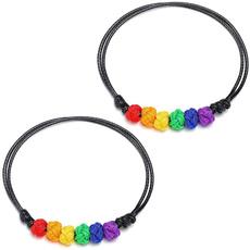 rainbow, rope bracelet, braceletforgaylesbian, Bracelet
