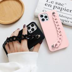 Mini, iphone12procase, Chain, couplephonecase