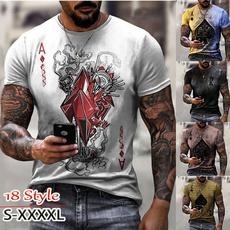 Summer, Poker, summer t-shirts, Slim T-shirt