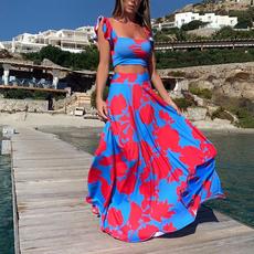 gowns, Floral print, sundress, Dresses