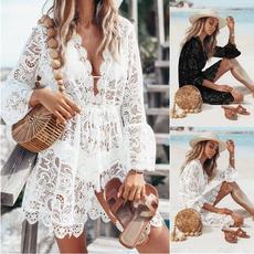 Summer, Fashion, Lace, Dress