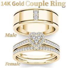 Heart, DIAMOND, gold, Men