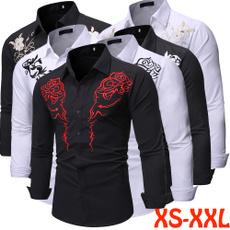 Turn-down Collar, Fashion, Shirt, long sleeved shirt