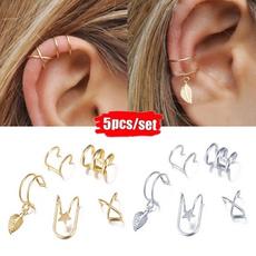Fashion, leaf, Jewelry, earcuffclipearring