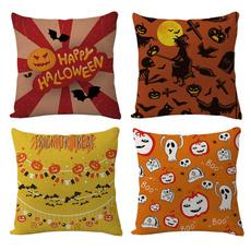 cute, cushioncasecover, linencushioncover, pumpkinprint