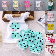 Summer, Fashion, Lace, tshirtshorts2pc