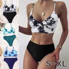 Summer, two piece swimsuit, Waist, Bikini swimwear