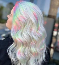 wig, rainbow, longwavywig, fashion wig