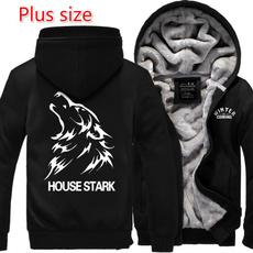 Thickening, Fleece, hooded, Winter