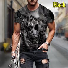 Summer, skull, Cool T-Shirts, 3dtshirtformen