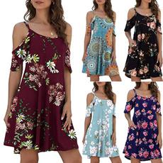short sleeves, Mini, dressesforwomen, Sleeve