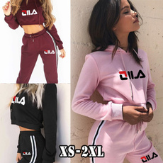 Plus Size, crop top, Long pants, Long Sleeve