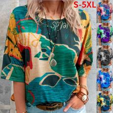 women pullover, Plus Size, Shirt, womens top