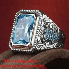 Blues, ringsformen, Silver Jewelry, Fashion