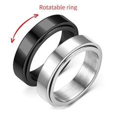 Steel, rotatablering, Jewelry, Simple