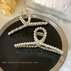 hair, metalhairpin, Joias, pearls