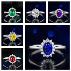 Blues, DIAMOND, Jewelry, Silver Ring
