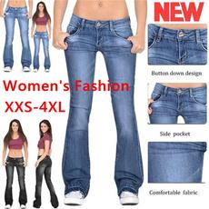 Plus Size, high waist, pants, button