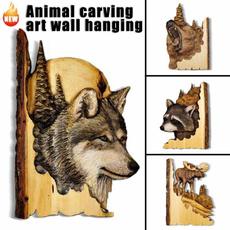 Head, Gifts, Wooden, elkwalldecoration