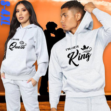 Couple Hoodies, King, Fashion, Sleeve