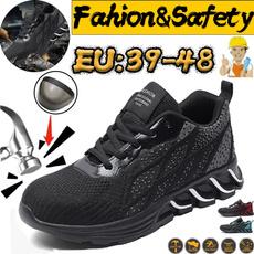 Steel, Fashion, punctureproofshoe, breathablemenshoe