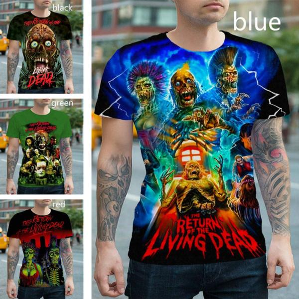 Funny, Shorts, tshirt men, skull