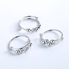 Couple Rings, anxiety, Jewelry, europeanandamericanstyle