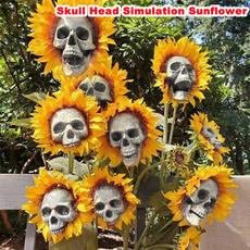 skullheadhalloweendecoration, Head, Outdoor, art