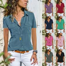 Summer, Fashion, short sleeves, casual shirt