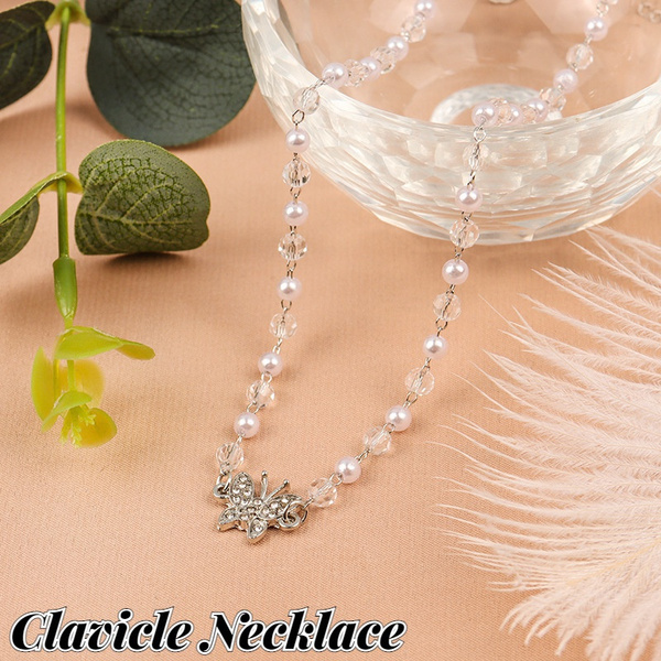 butterfly, clavicle  chain, Design, Fashion