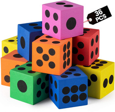 Toy, Dice, Colorful, foamdiceset