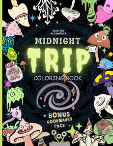 midnighttripcoloringbook, Travel, coloringbookforgrownup, relievestres