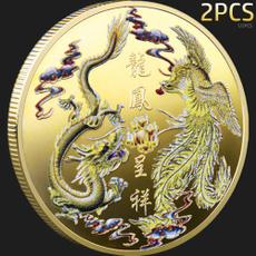 collectiblecoin, goldplatedcoin, Phoenix, Chinese