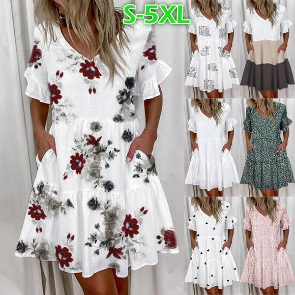 Summer, dressesforwomen, Fashion, Sleeve