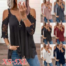 blouse, off shoulder top, womens top, Lace
