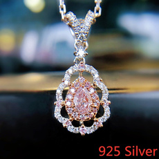 Sterling, Fashion, sterling silver, pinkdiamondnecklace