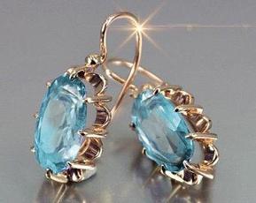 Silver Jewelry, DIAMOND, gold, Earring