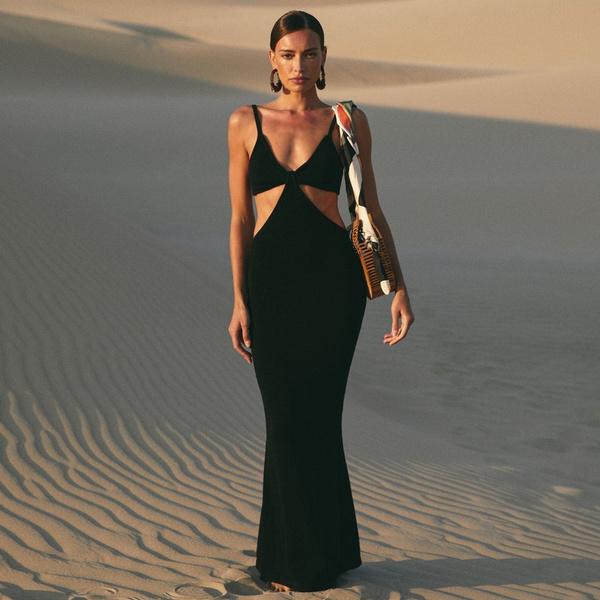 Summer, Dress, vacationknittedmaxidressesforwomen, backless dress