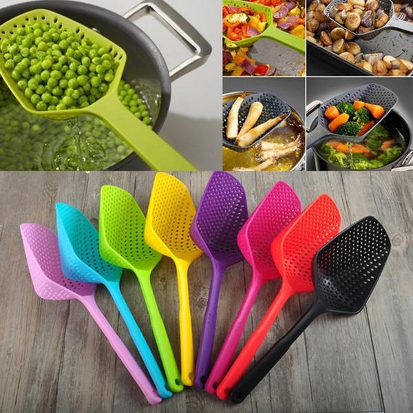 longhandlespoon, colander, Kitchen & Dining, siliconecolander