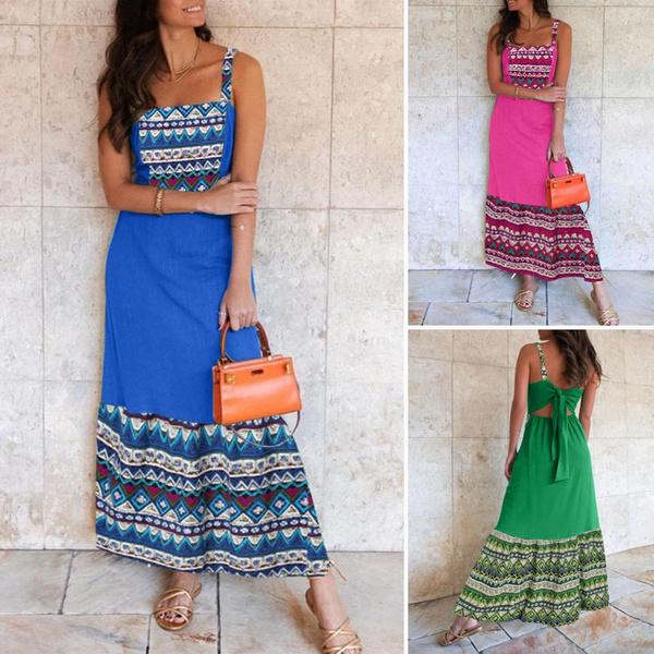 Sleeveless dress, Plus Size, long dress, Dress