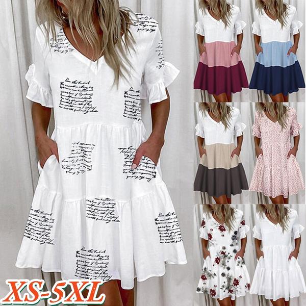 sleeve v-neck, dressforwomen, Plus Size, Fashion