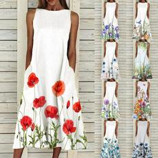 Sleeveless dress, Plus Size, dressesforwomencasualsummer, Sweets