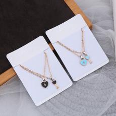 Heart, Chain Necklace, lockkeynecklace, loversnecklace