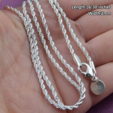 Sterling, clavicle  chain, Chain Necklace, Men  Necklace