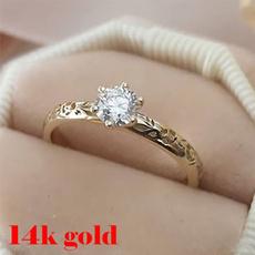 Fashion, wedding ring, gold, wreath