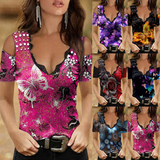 Summer, Plus Size, Plus size top, short sleeves