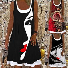 Summer, Shorts, Floral print, Necks
