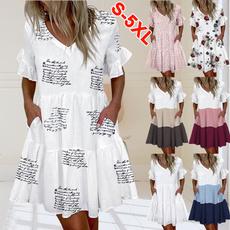 Fashion, sundress, plus size dress, Dress