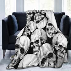 Goth, bedblanket, skull, Sofas
